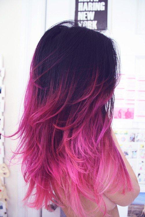 Inšpirácie pre vlasy: Ružové ombré