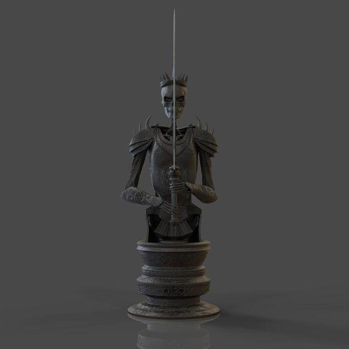 3D šach- kráľovná