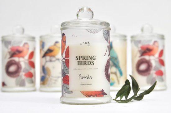 Tipy na darčeky: Spring Birds sviečka, M-Factory